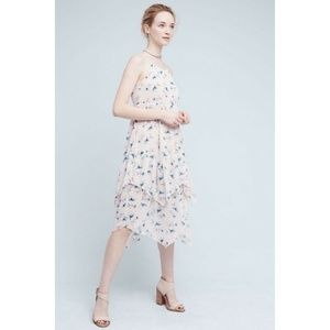 NWT Anthropologie Firenze Tiered Dress Sz SP Pink